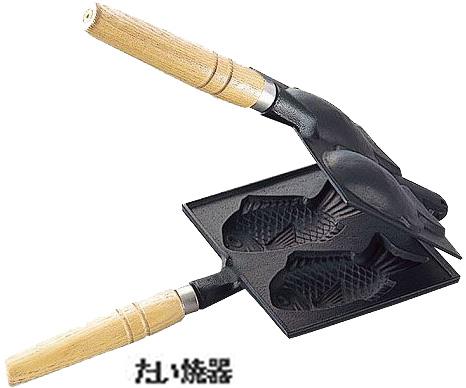 鋳造 鋳物 鉄の器 池永鉄工 南部池永【たこ焼&スナック】たい焼器 814188■中国製