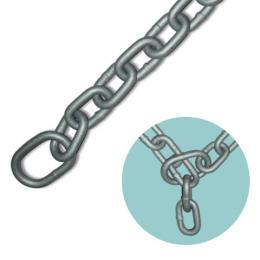 【送料無料 一部地域除く】とられん鎖(さ) DFC-10-2 (2メートル) dfc102