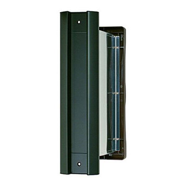 【送料無料 一部地域除く】ファースト No.2000ポスト 内フタ付気密型 タテ型 厚壁用 壁厚調整範囲:191~290mm 黒