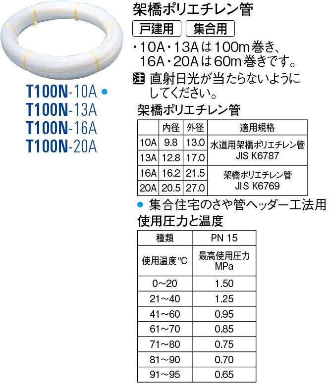 架橋ポリエチレン管 T100N-20A