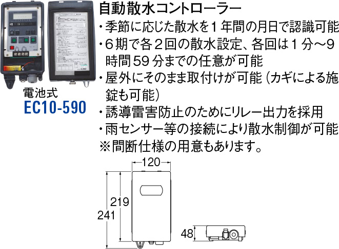 自動散水コントローラー EC10-590