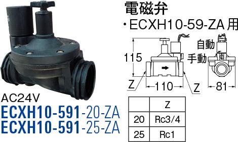 【店内商品ポイント10倍!12月5日(水)0:00~23:59まで!】電磁弁 ECXH10-591-25-ZA