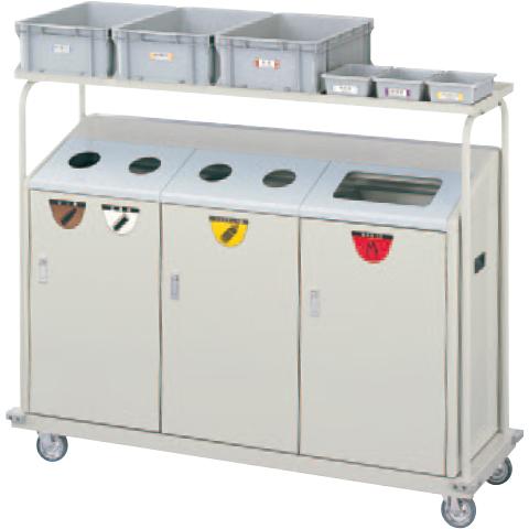 【送料無料 一部地域除く】リサイクルボックス RBK-500TRP 2段キャリー YW-104L-ID W1524×D486×H1210mm[CONDOR(コンドル)] [※代引不可]