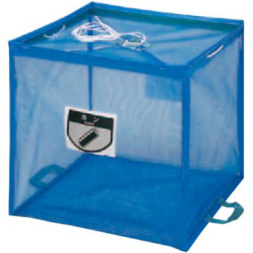 【送料無料 一部地域除く】折りたたみ式回収ボックス ECO-730 YW-112L-PC-BL ブルー W900×D900×H900mm[CONDOR(コンドル)] [※代引不可]