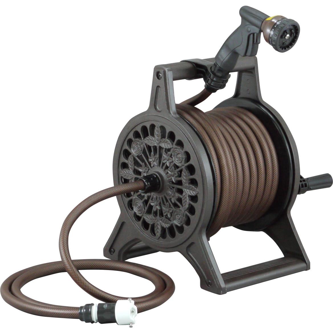 三洋化成 ガーデニング 散水用具 ブロンズリール 激安通販販売 L20m ブラウン 在庫あり BR4-XT20BRO ※代引不可