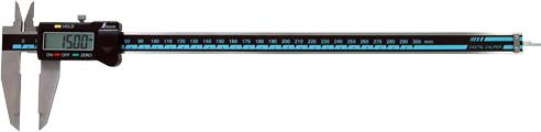 デジタルノギス 大文字 300mm ホールド機能付 H400×W102×D15.5mm 280g