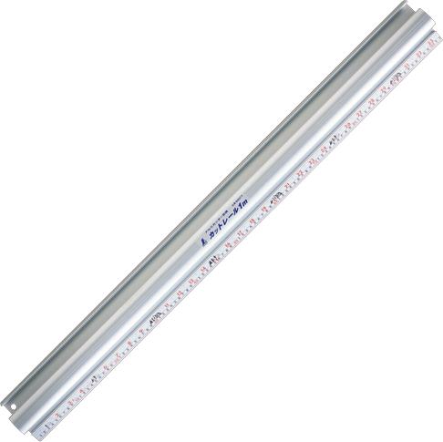 アルミカッター定規 カットレール1m 併用目盛 H1020×W100×D50mm 1600g