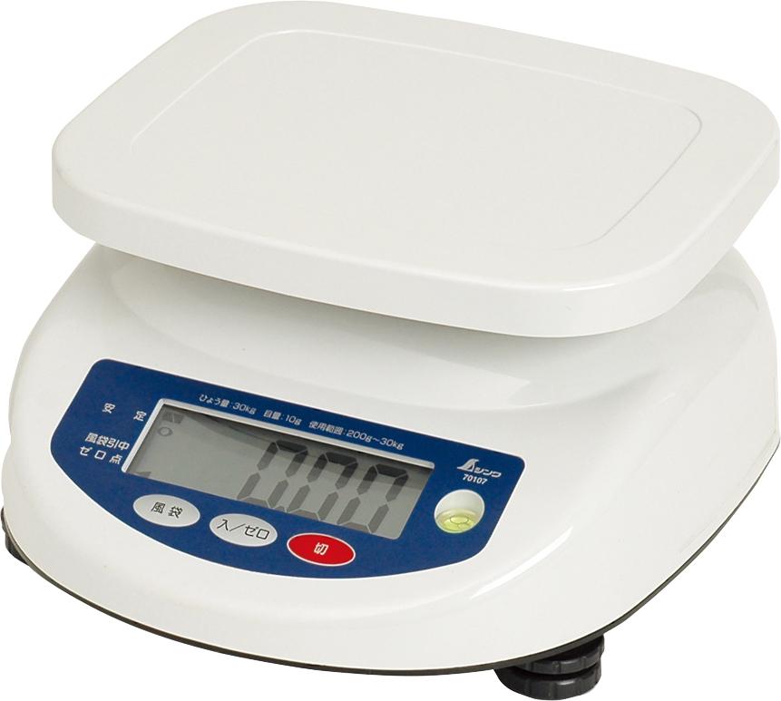 デジタル上皿はかり 30kg取引証明以外用 H281×W259×D148mm 1928g