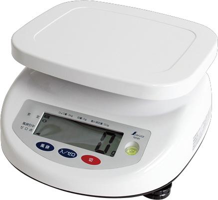 デジタル上皿はかり 3kg取引証明用 H280×W260×D140mm 1770g