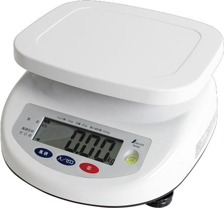 デジタル上皿はかり 15kg取引証明用 H280×W260×D140mm 1790g
