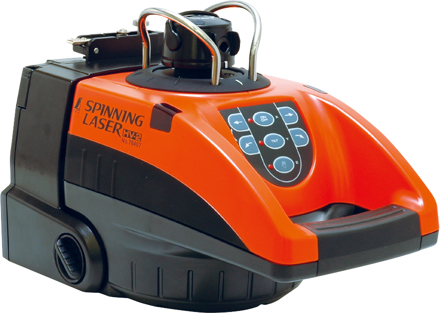 スピニングレーザー HV-2 平面脚頭式三脚付 H175×W190×D270mm
