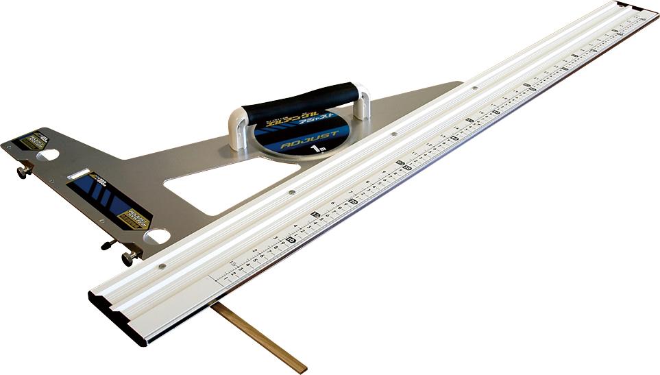 丸ノコガイド定規 エルアングル アジャスト 1m 併用目盛 角度調整付 H1162×W455×D75mm 2000g
