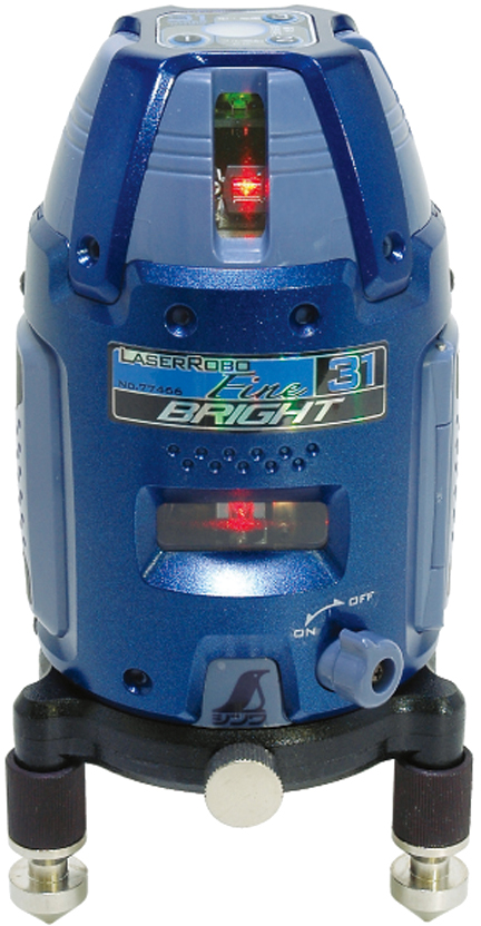 レーザーロボ Fine 31 BRIGHT 縦・横・大矩・地墨 H106×W106×D180mm 930g