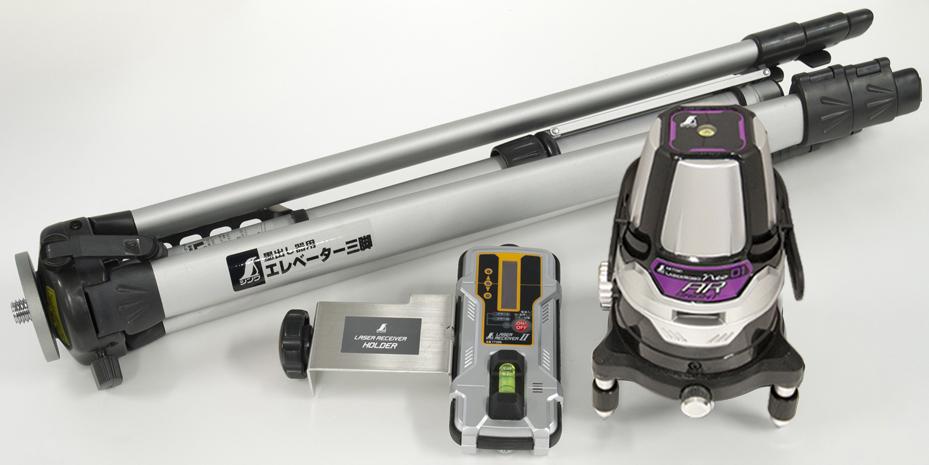 レーザーロボ Neo 01AR BRIGHT 受光器・三脚セット