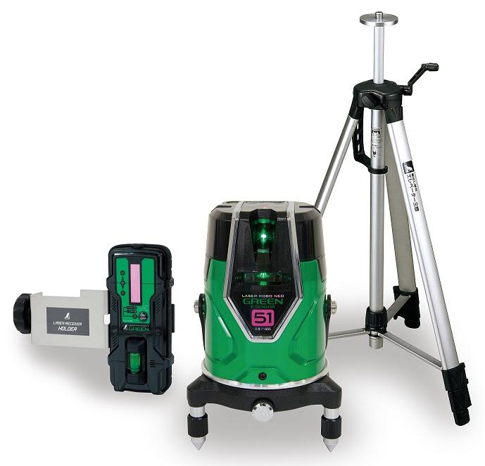 【送料無料 一部地域除く】レーザーロボグリーン Neo E Sensor 51 受光器・三脚セット 71615 φ128×H190mm 1280g