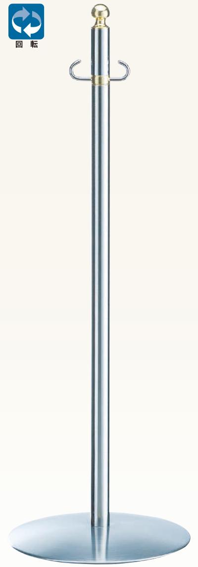 【送料無料 一部地域除く】シロクマ フロアパーティションポール FPP-1205 金/鏡面