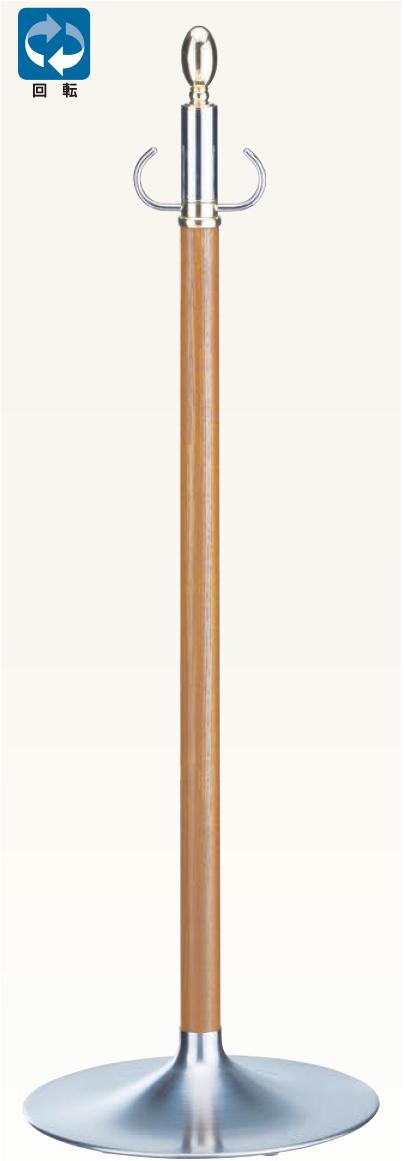 【送料無料 一部地域除く】シロクマ パーティションポール FPP-1114 金/ミディアムオーク