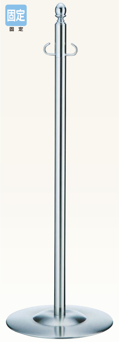 【送料無料 一部地域除く】シロクマ フロアパーティションポール FPP-1355 CR/鏡面
