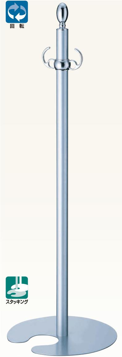【送料無料 一部地域除く】シロクマ フロアパーティションポール FPP-0260 CR/シルバー