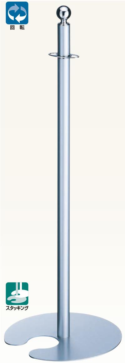 【送料無料 一部地域除く】シロクマ フロアパーティションポール FPP-0264 CR/シルバー