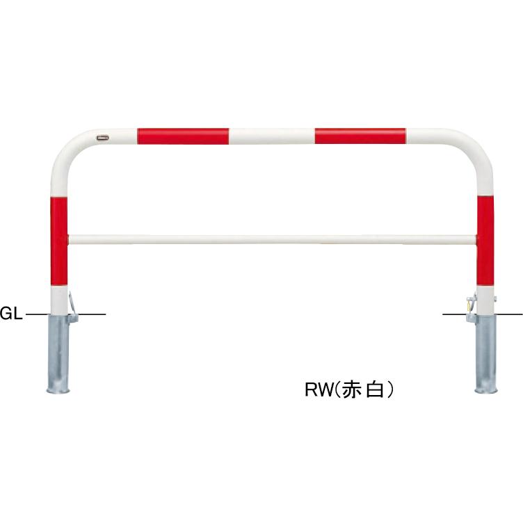 FAH-7SK15-650【赤白】 アーチ 【差込式カギ付(南京錠25mm)】【※代引不可】