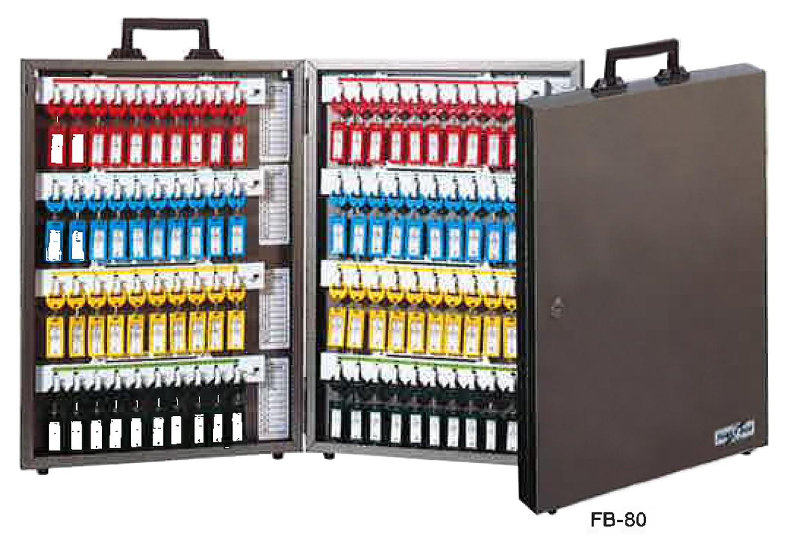 TANNER ディスクシリンダー式キーボックス(100本用) FB-100 W380×H662mm メタリックブラウン