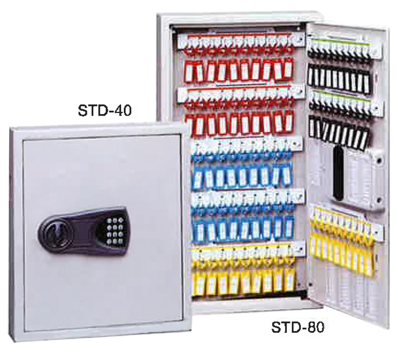 TANNER STDテンキー式キーボックス STD-80 W420×H700 アイボリー