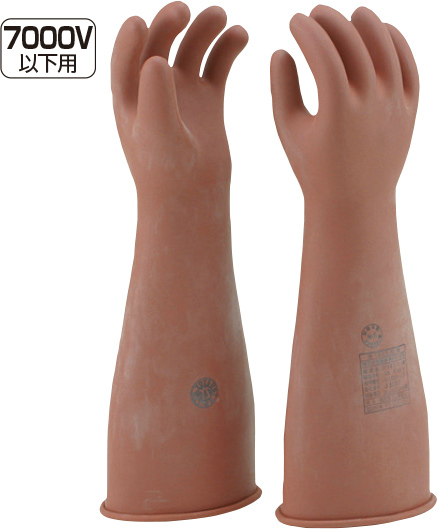 高圧用ゴム手袋 TA967XA-2 大[※代引不可]