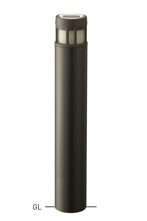 【今だけ!スーパーセール限定10%off!】ソーラーLEDバリカー LIMC-02A φ139.8×t4.5×850mm ダークグレー[※代引不可][個人宅送料別途見積]