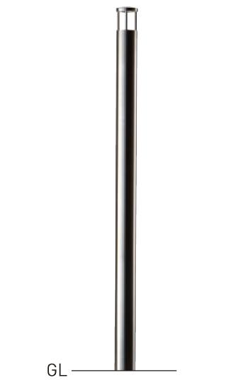 整列柱 固定式 LNPS-511A φ48.6×t1.5 H900mm ヘアーライン[※代引不可][個人宅送料別途見積]