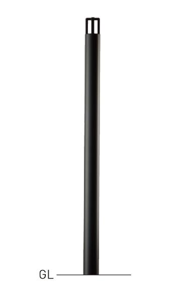 整列柱 中蓋脱着式 LNP-512CN φ48.6×t2.3 H900mm ウレタン樹脂塗装[※代引不可][個人宅送料別途見積]