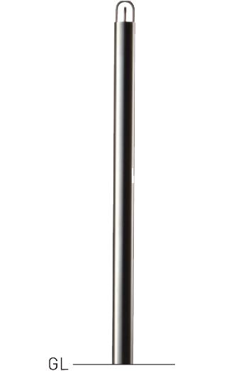 整列柱 中蓋脱着式 LNPS-514CN φ48.6×t1.5 H900mm ヘアーライン[※代引不可][個人宅送料別途見積]
