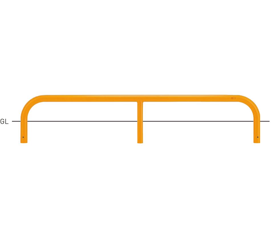 駐車場用タイプ 82A9-20-04H φ60.5×t2.8 W2000×H150mm 茶[※代引不可][個人宅送料別途見積]