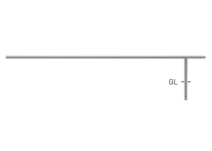 自転車用ジョイント式パイプ (ステンレスタイプ) S80A9MD-24W(中間支柱) φ42.7×t2.0 W2400×H350mm [※代引不可][個人宅送料別途見積]