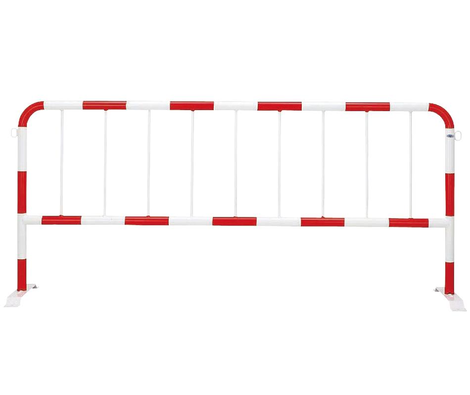 バリカー移動式 80G-20 φ42.7×t2.3 W2000 H900mm 赤白[※代引不可][個人宅送料別途見積]