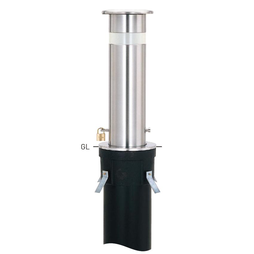 上下式スタンダード KS-1N 取替支柱 φ165.2×t3.0 H600mm [※代引不可][個人宅送料別途見積]