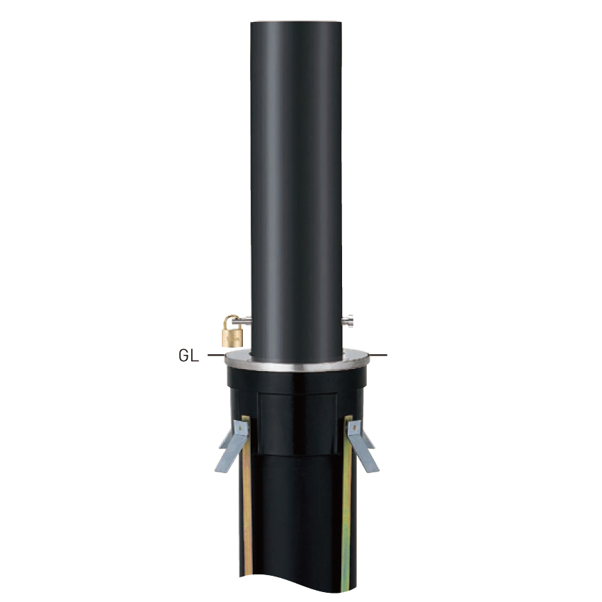 上下式バリアフリー 3165 φ165.2×t3.0 H587mm [※代引不可][個人宅送料別途見積]
