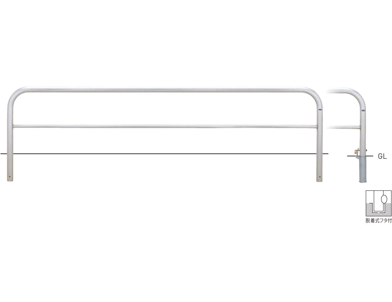 横型スタンダード(ステンレスタイプ) S82P3-30 φ60.5×t3.0 W3000×H650mm [※代引不可][個人宅送料別途見積]