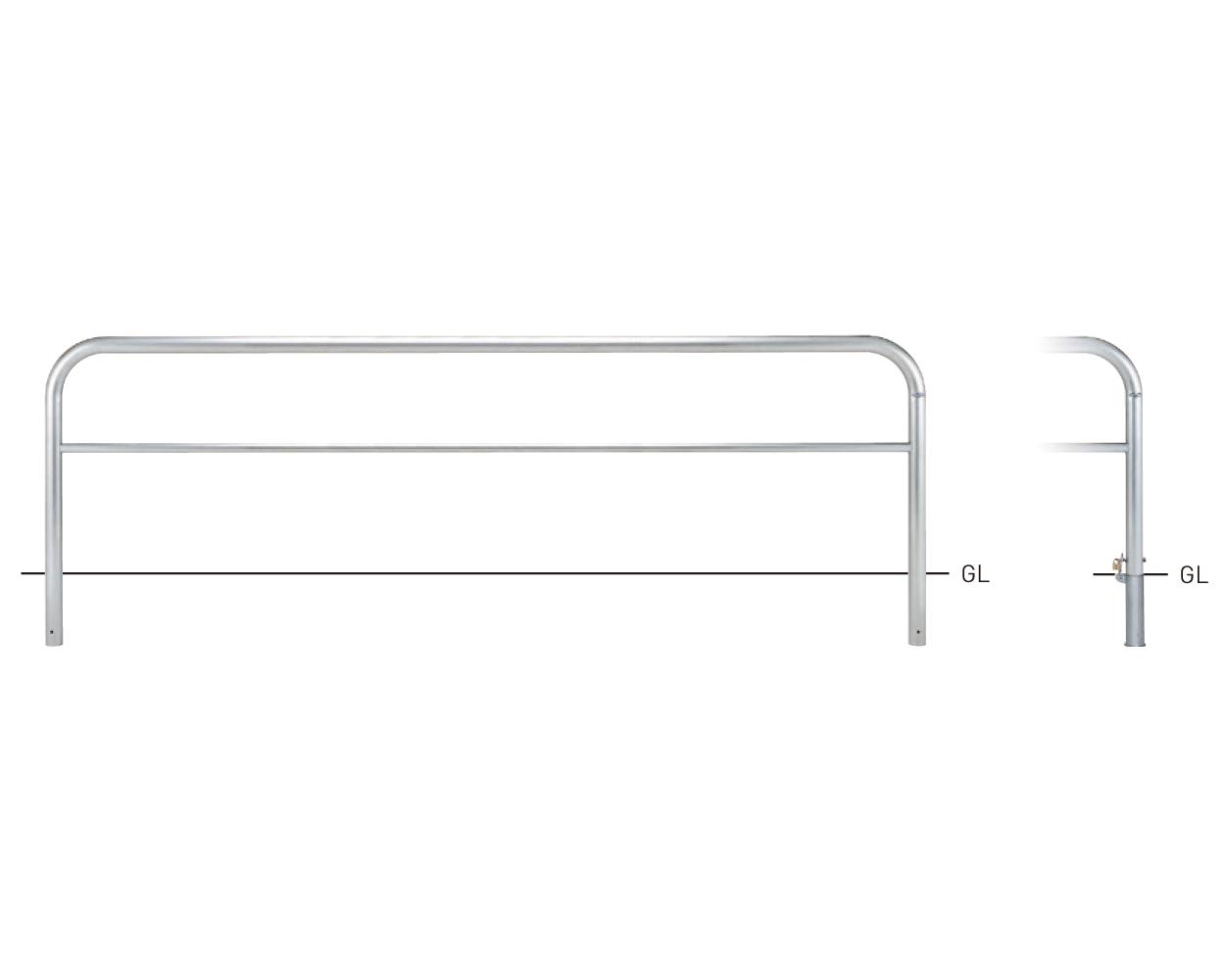 横型スタンダード(ステンレスタイプ) SY82PK3-30 φ60.5×t3.0 W3000×H800mm [※代引不可][個人宅送料別途見積]