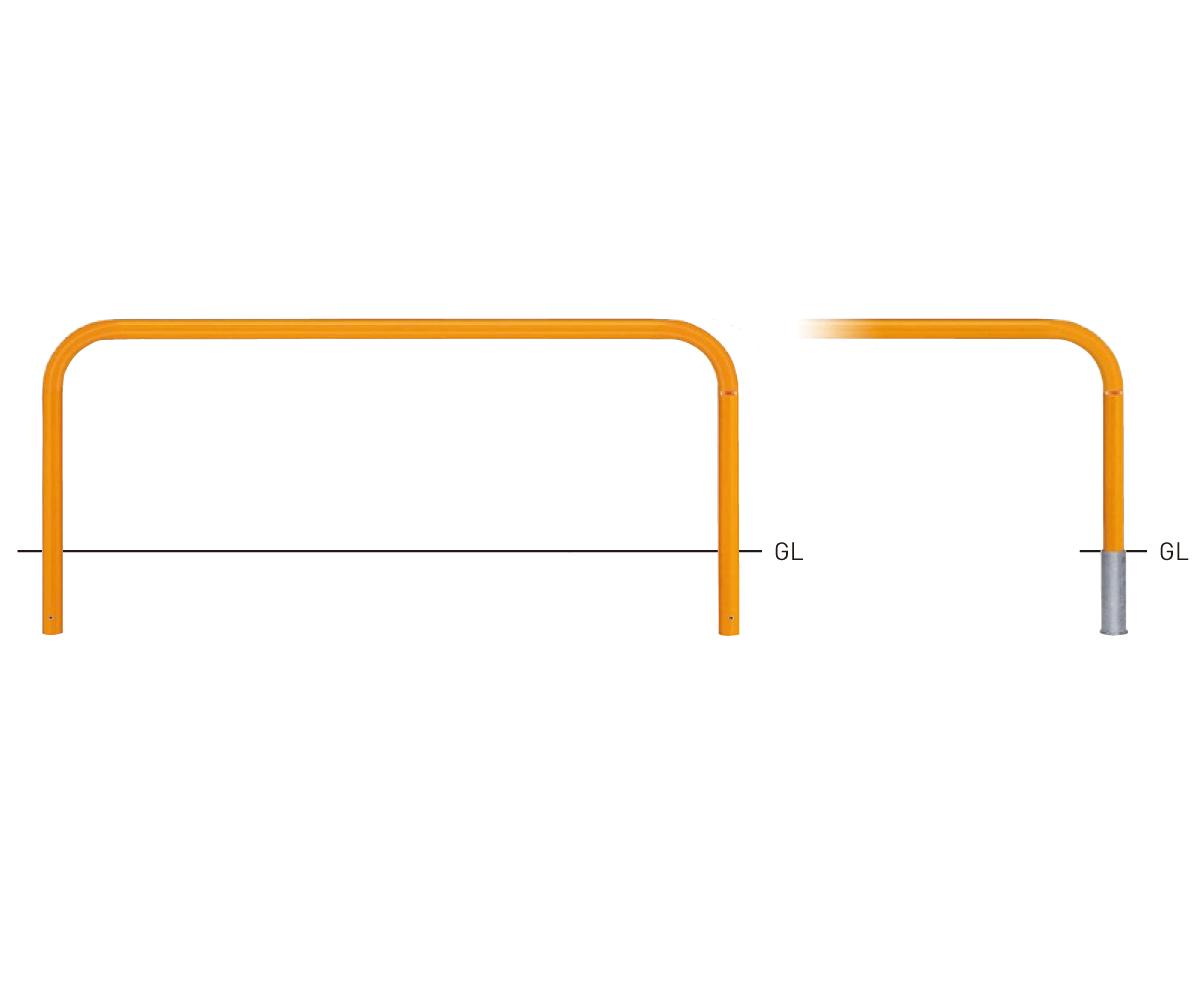 82C-20【茶】 横型スタンダード(スチールタイプ) φ60.5xt2.8 W2000×H650mm [※代引不可][個人宅送料別途見積]