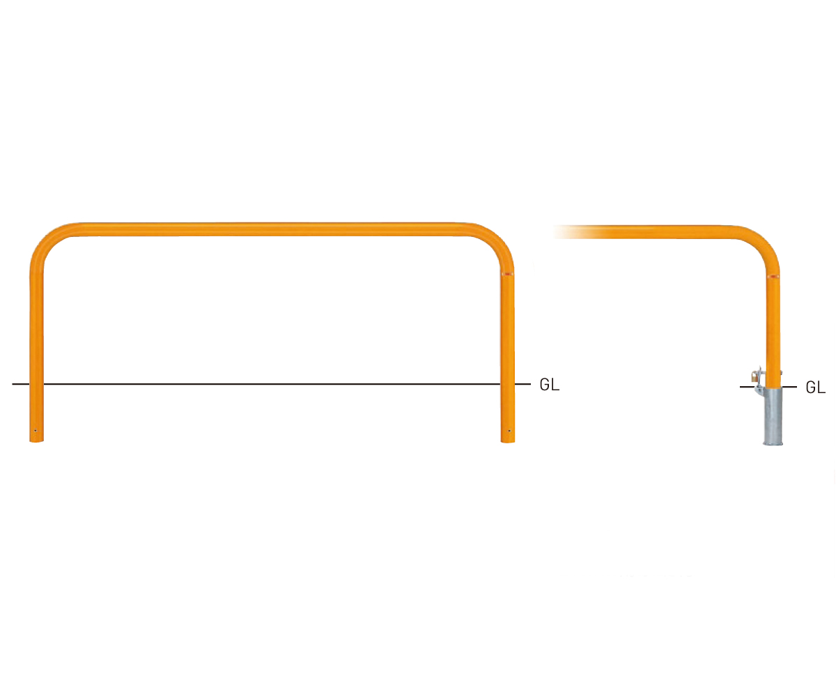 82PK-20【茶】 横型スタンダード(スチールタイプ) φ60.5xt2.8 W2000×H650mm [※代引不可][個人宅送料別途見積]