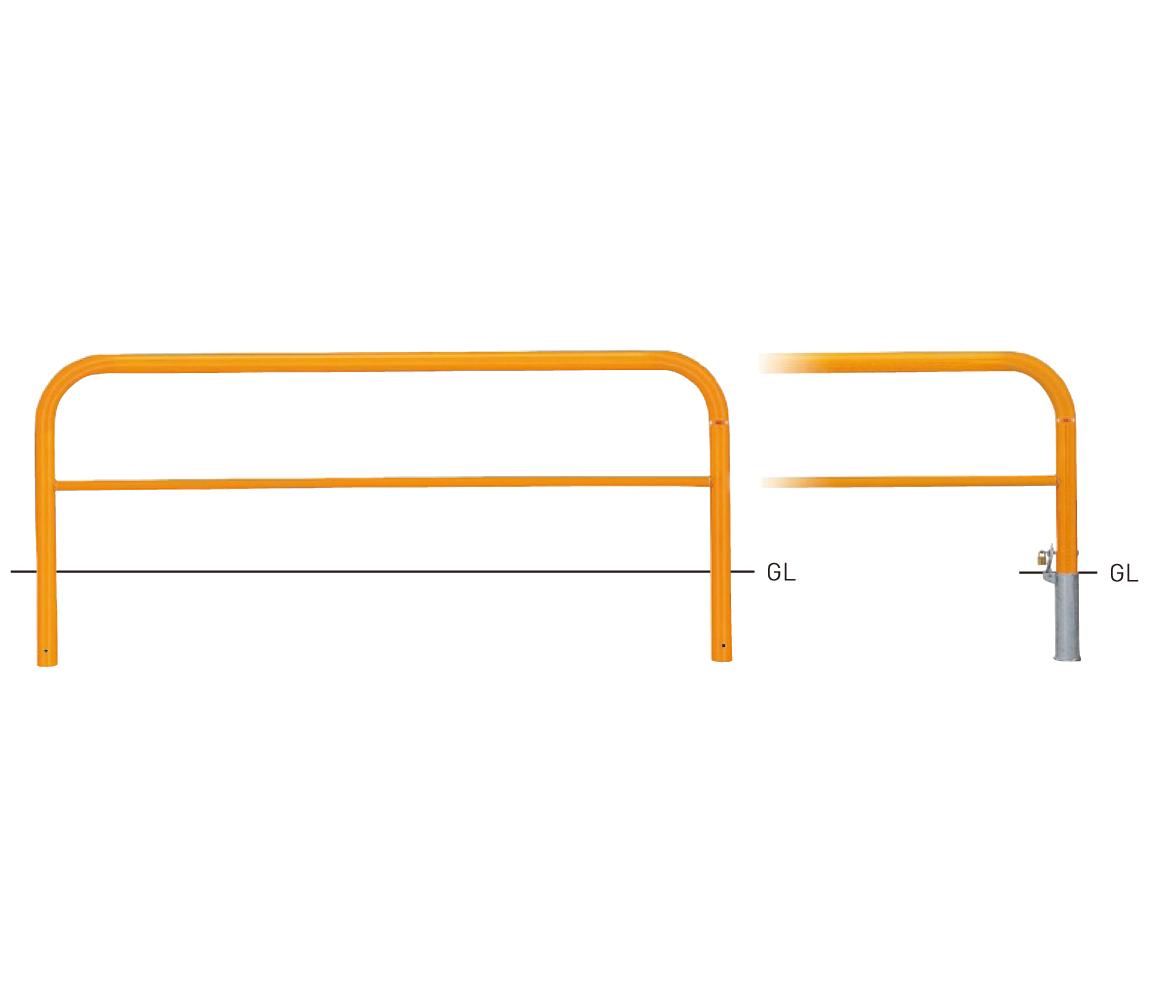 82PK3-20【茶】 横型スタンダード(スチールタイプ) φ60.5×t2.8 W2000×H650mm [※代引不可][個人宅送料別途見積]