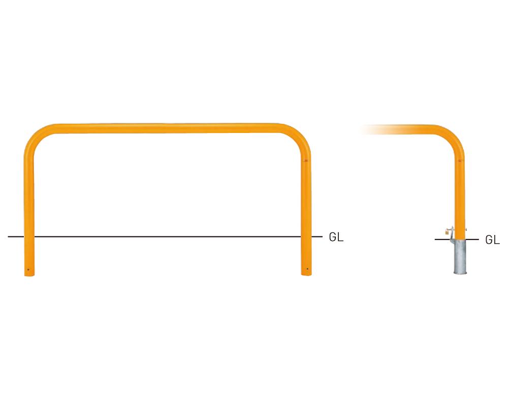 Y83PK-20【茶】 横型スタンダード(スチールタイプ) φ76.3×t3.2 W2000×H800mm [※代引不可][個人宅送料別途見積]