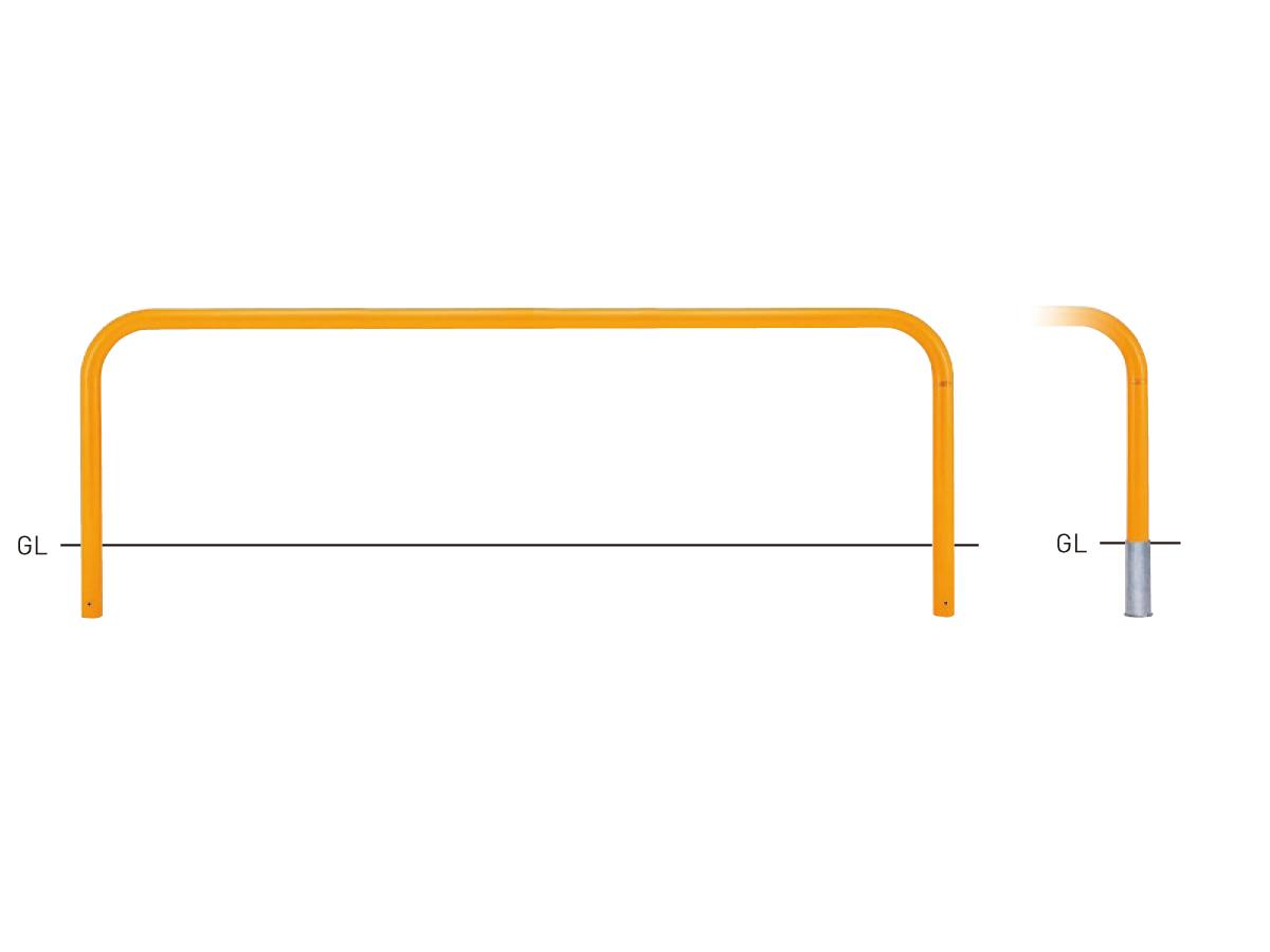 Y83C-30【白】 横型スタンダード(スチールタイプ) φ76.3×t3.2 W3000×H800mm [※代引不可][個人宅送料別途見積]