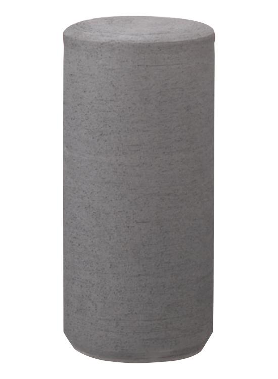 KAW-01CK 【流水】 瓦ボラード 脱着式カギ付 いぶし φ220mm 41.5kg [※代引不可][個人宅送料別途見積]