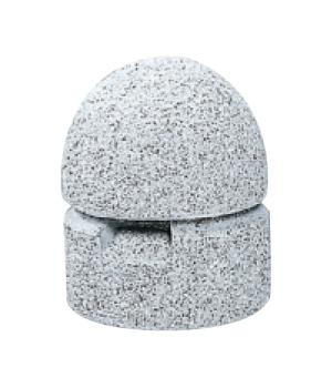 ストーンボラード(稲田擬石)固定式 TPN-005A φ300×H350mm(全長500)74kg [※代引不可][個人宅送料別途見積]