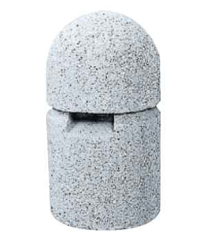 ストーンボラード(稲田擬石)固定式 TPN-006A φ250×H450mm(全長600)65kg [※代引不可][個人宅送料別途見積]