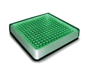 【送料無料 一部地域除く】ソーラーブリック 角形200mm 196×196×45mm SBH200F GR グリーン