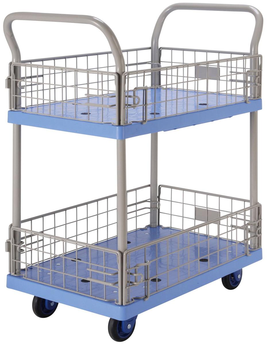ゴールドキャリー(樹脂運搬車)(省音タイプ)2段金網タイプ GCP-127-P 150kg用 [※代引不可]