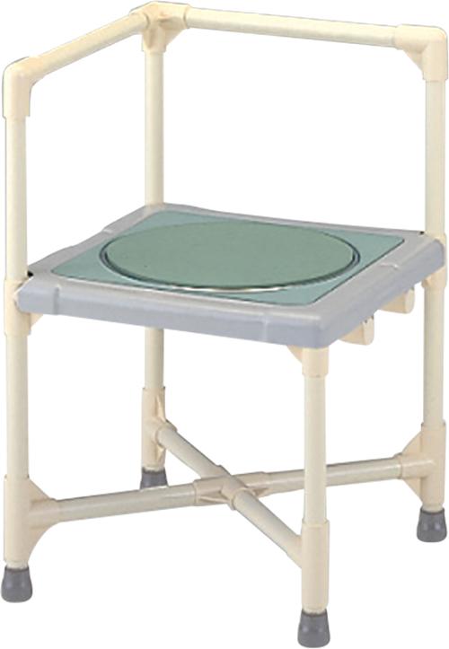 シャワーいす L型 ターンテーブルタイプ(大) CAT-0101 H67(40)×W44×D44cm 質量:6.2kg [※代引不可]